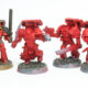 WIP: Blood Angels Mk4 Assault Squad #1