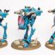 Showcase: Eldar War Walker Squadron of Iybraesil