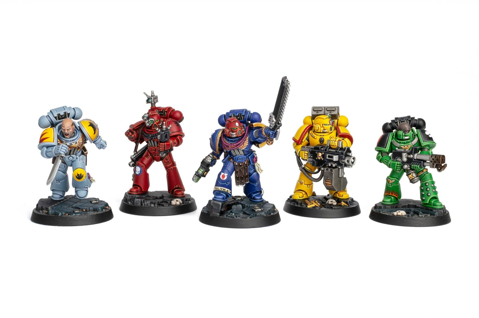 Space Marine Heroes Series 1 from the Space Marine Adventures boxed game painted by Stahly