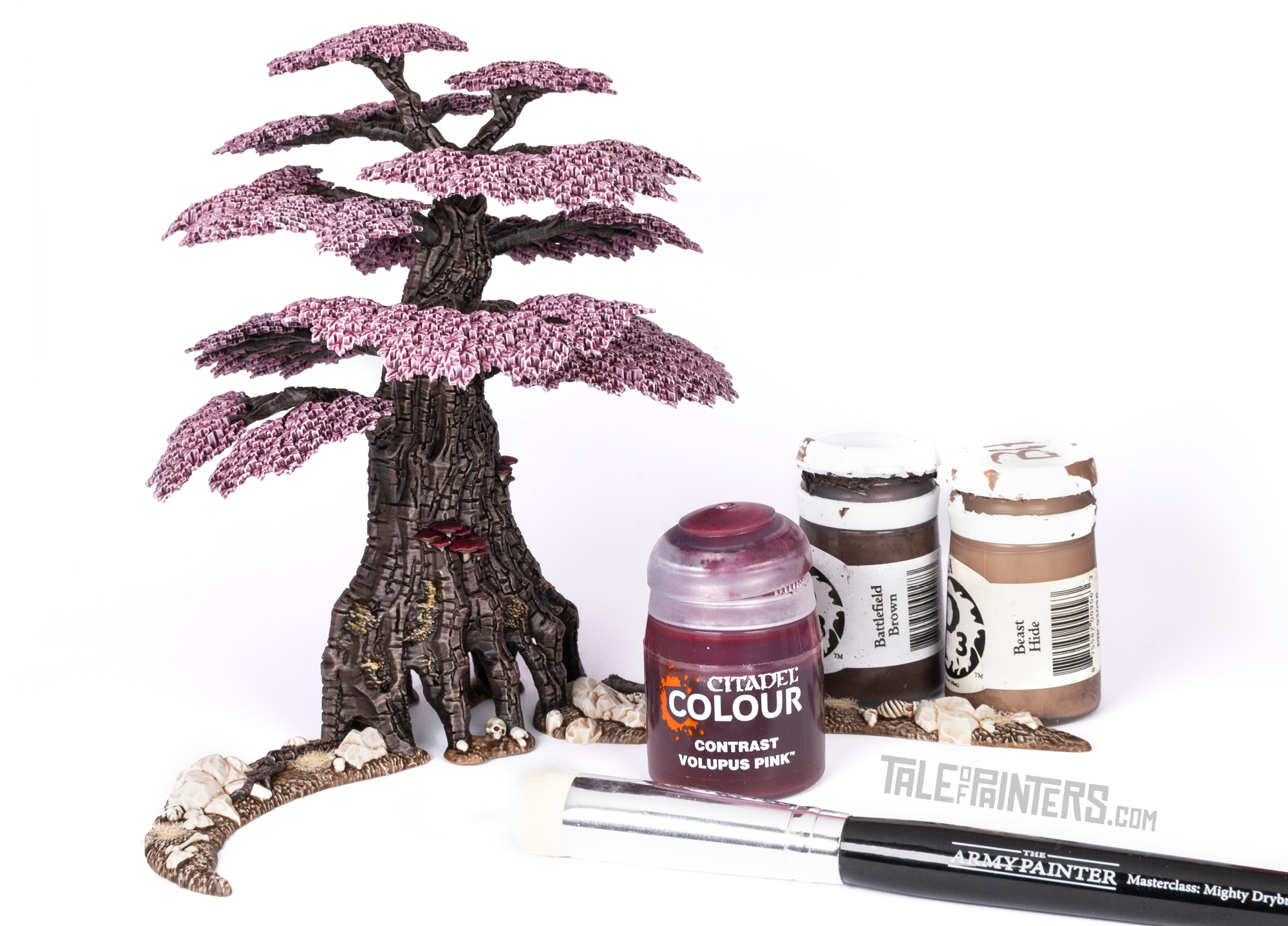 How to paint an Awakened Wyldwood, finished model