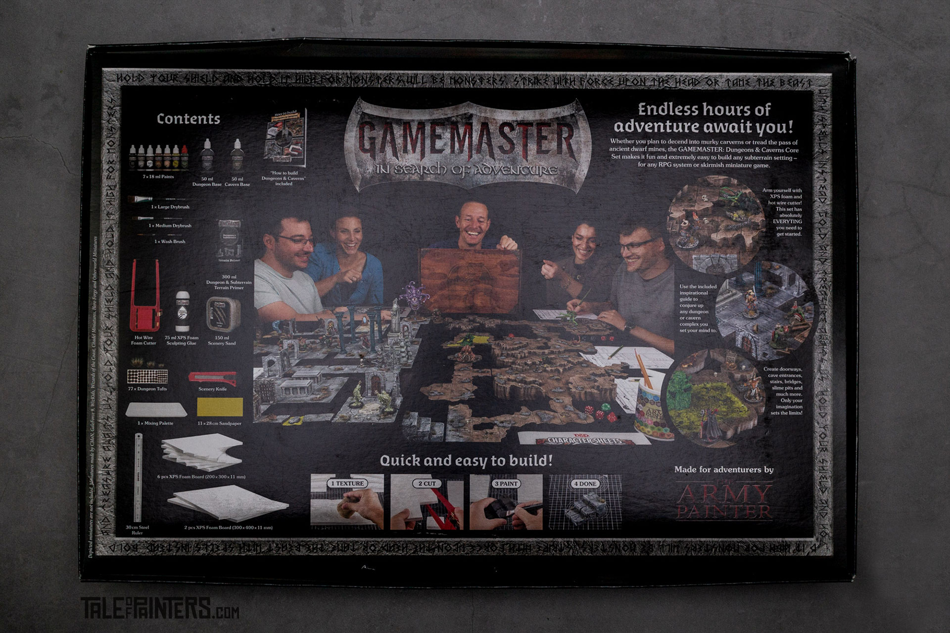 The Army Painter Gamemaster Dungeons & Caverns Core Set Back