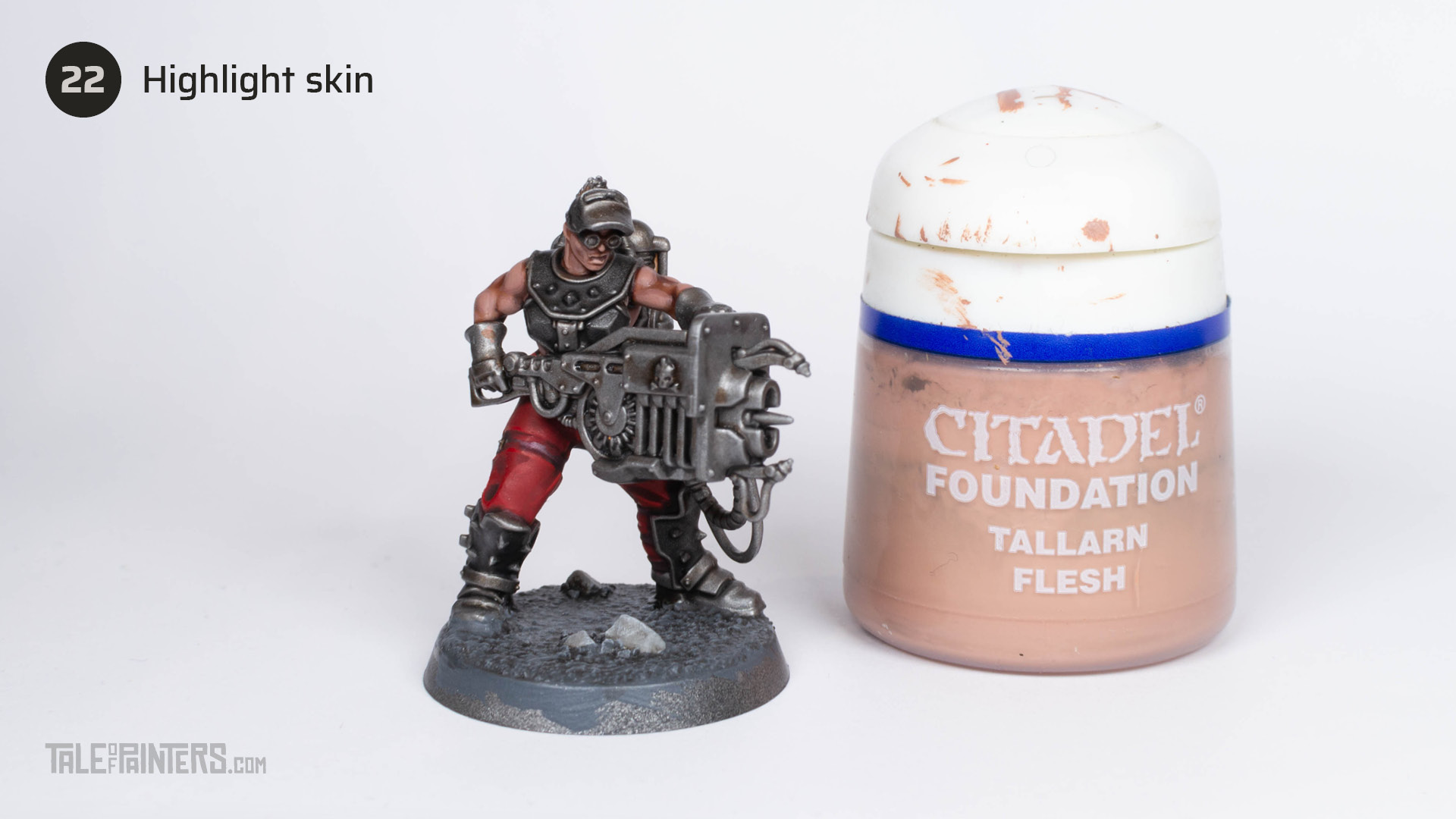 How to paint a Goliath-Forgeborn for Necromunda, step by step picture