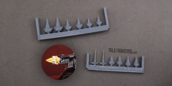 3D-printed muzzle-flashes by Tablehammer.com
