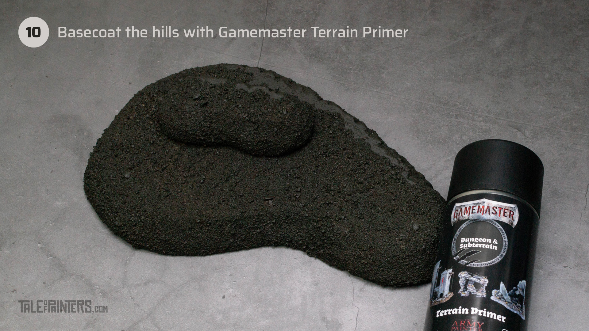 Tutorial: How to make tabletop foam hills - step 10
