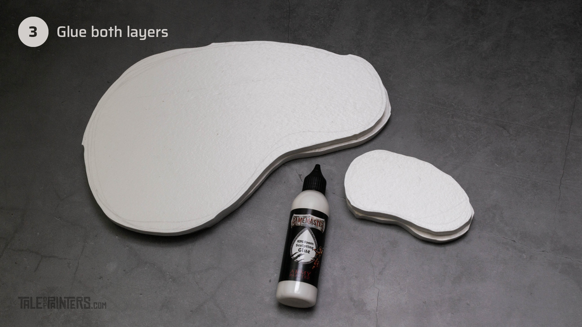 Tutorial: How to make tabletop foam hills - step 3