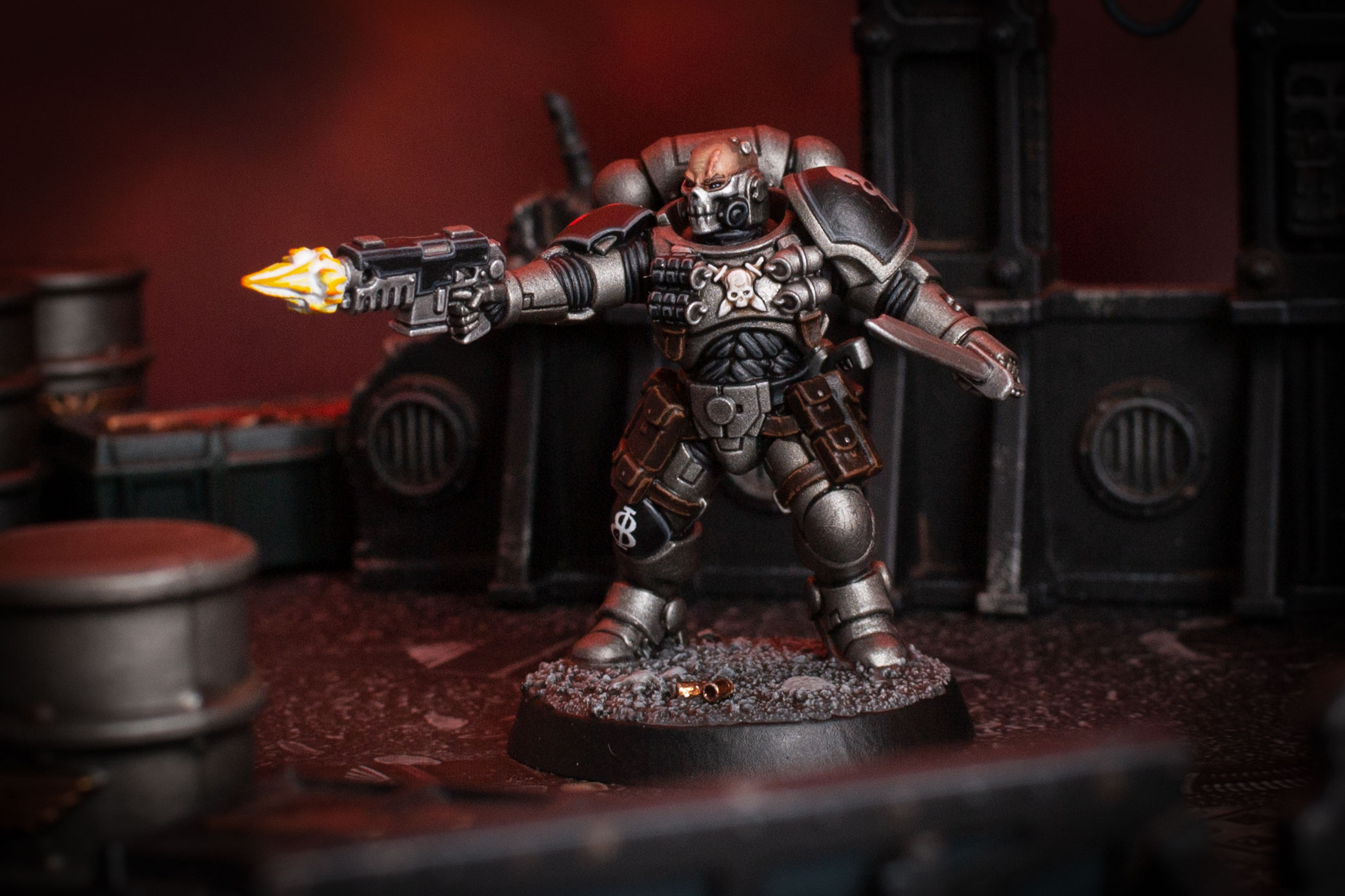 Silver Skulls Reiver with muzzle-flash effect piece