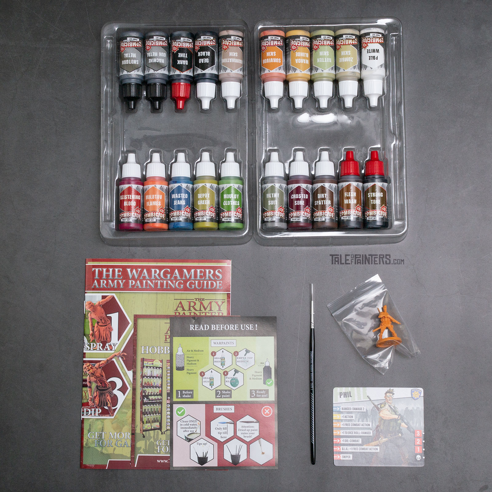 Review: Zombicide 2nd Edition Paint Set by The Army Painter - Contents