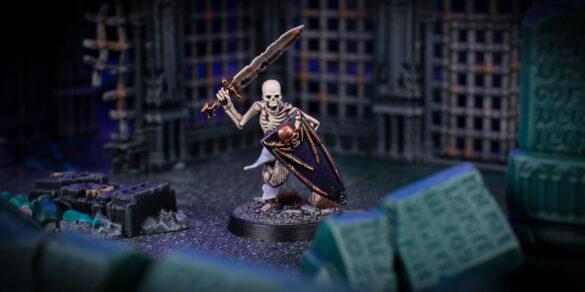 Scenic shot of a Skeleton Warrior from Games Workshop