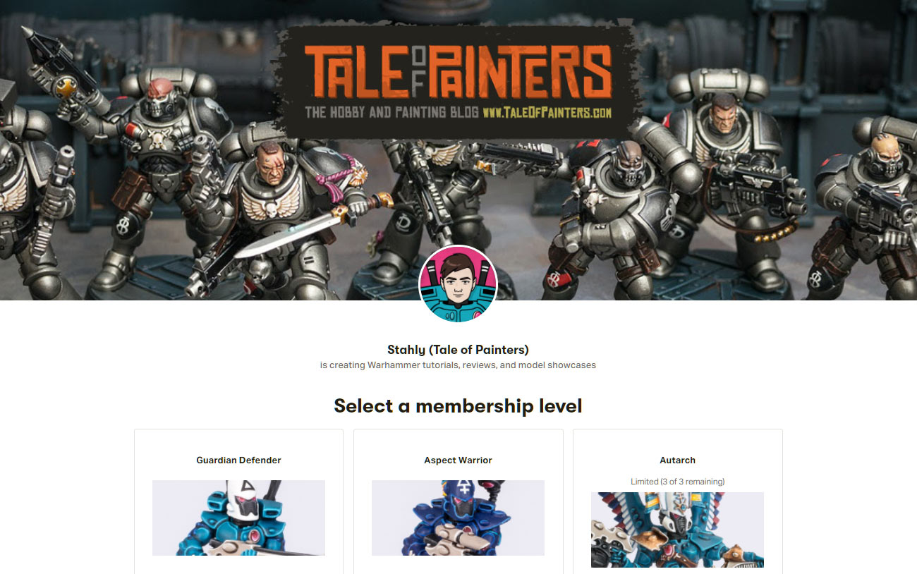Stahly's Patreon page for Tale of Painters