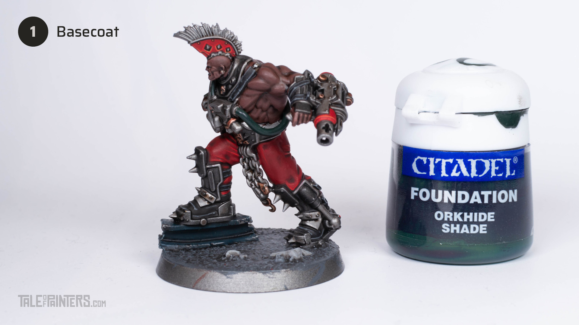 Tutorial: How to paint green liquid hoses step 1
