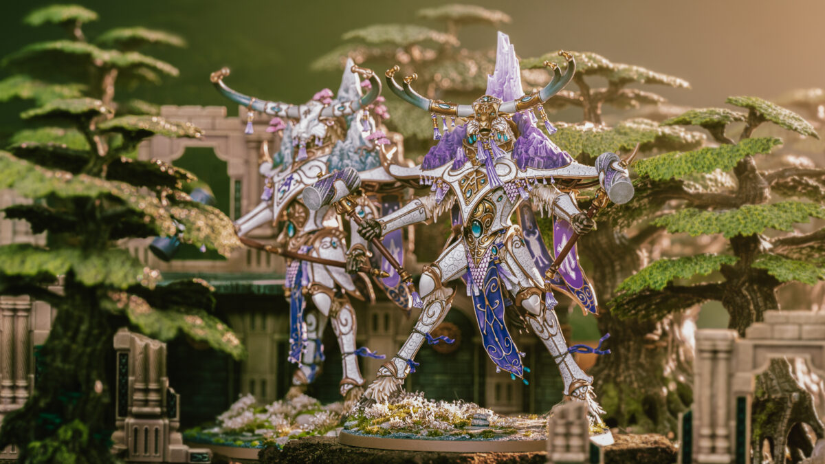 Lumineth Realm Lords - Avalenor The Stone Heart King - Age of Sigmar Warhammer Model