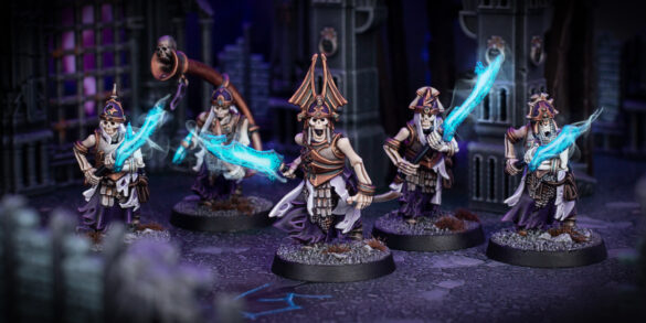 Five Grave Guard with burning Great Wight Blades