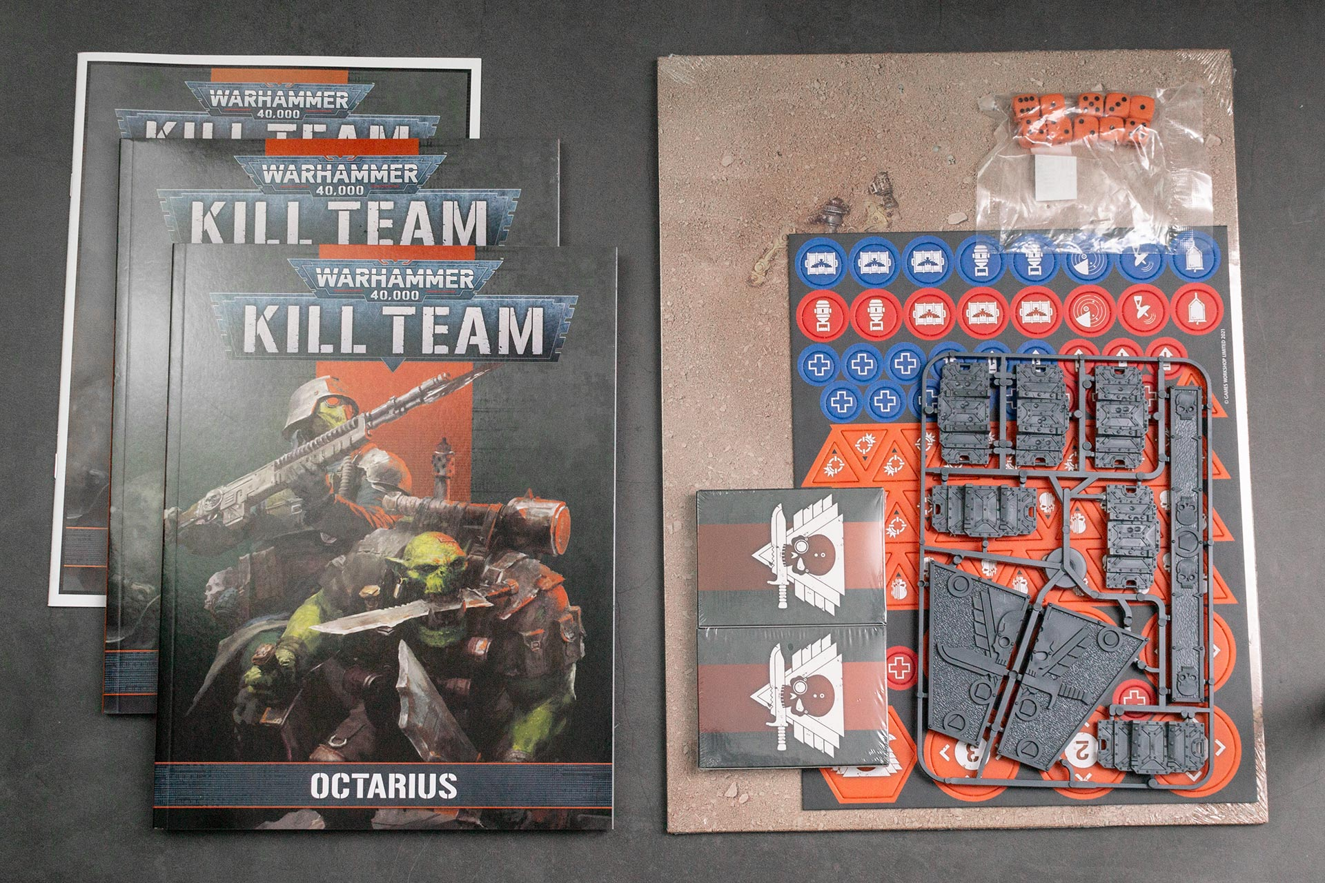 Rulebooks and accessoires of Kill Team: Octarius