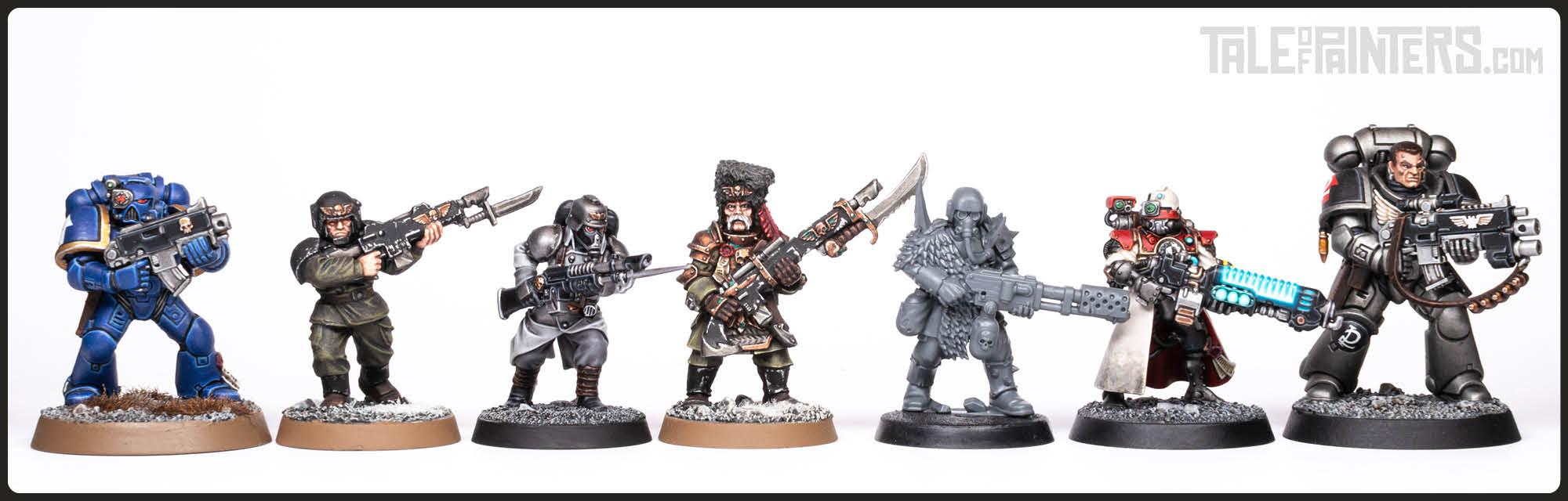 Plastic Death Korps of Krieg scale comparison