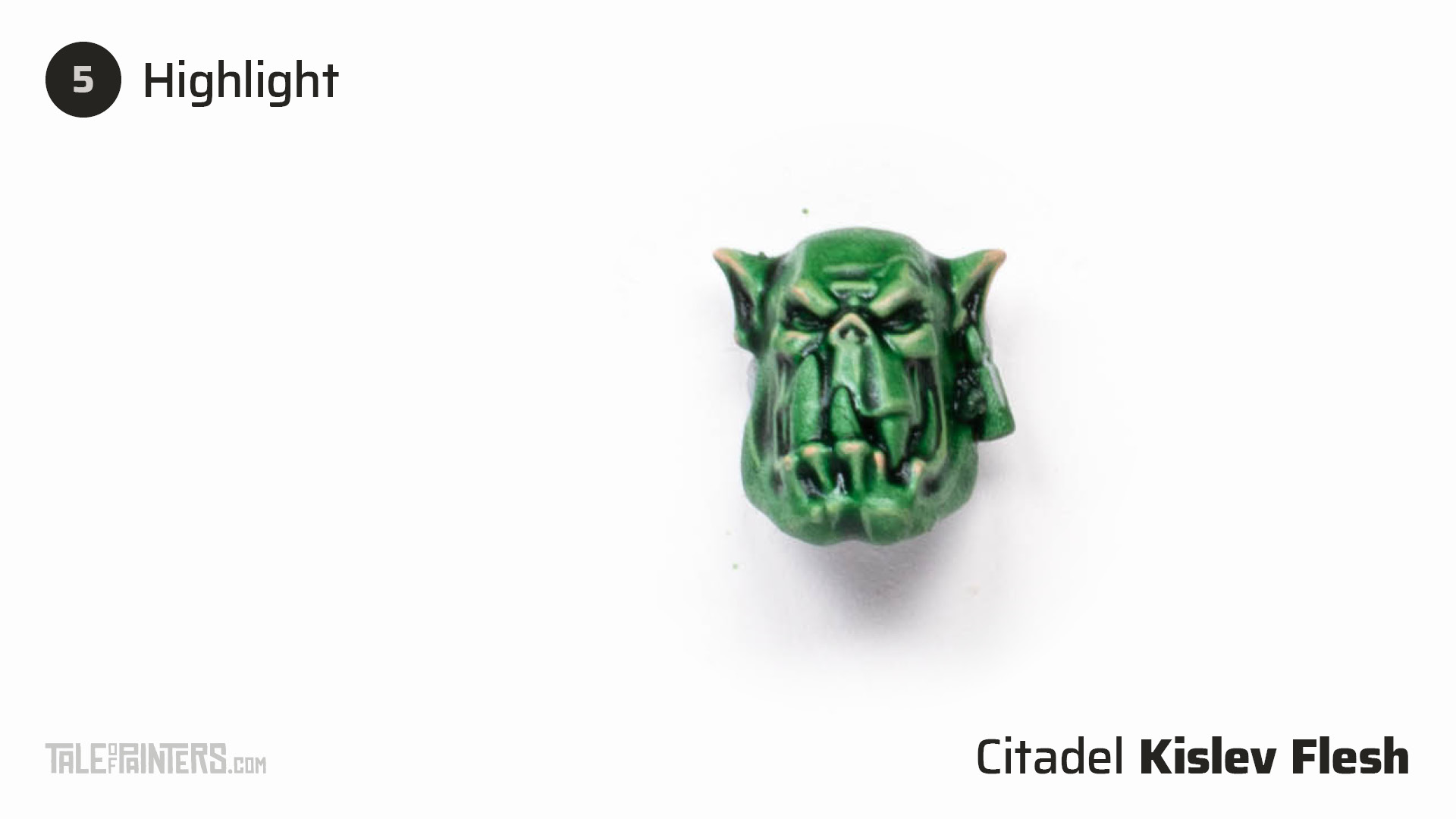 How to paint dark green Ork flesh - step 5