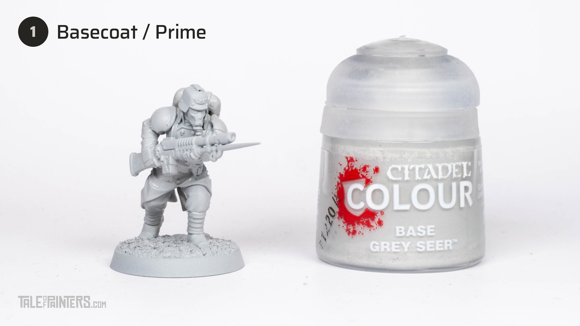 Tutorial: How to paint Death Korps of Krieg step 1