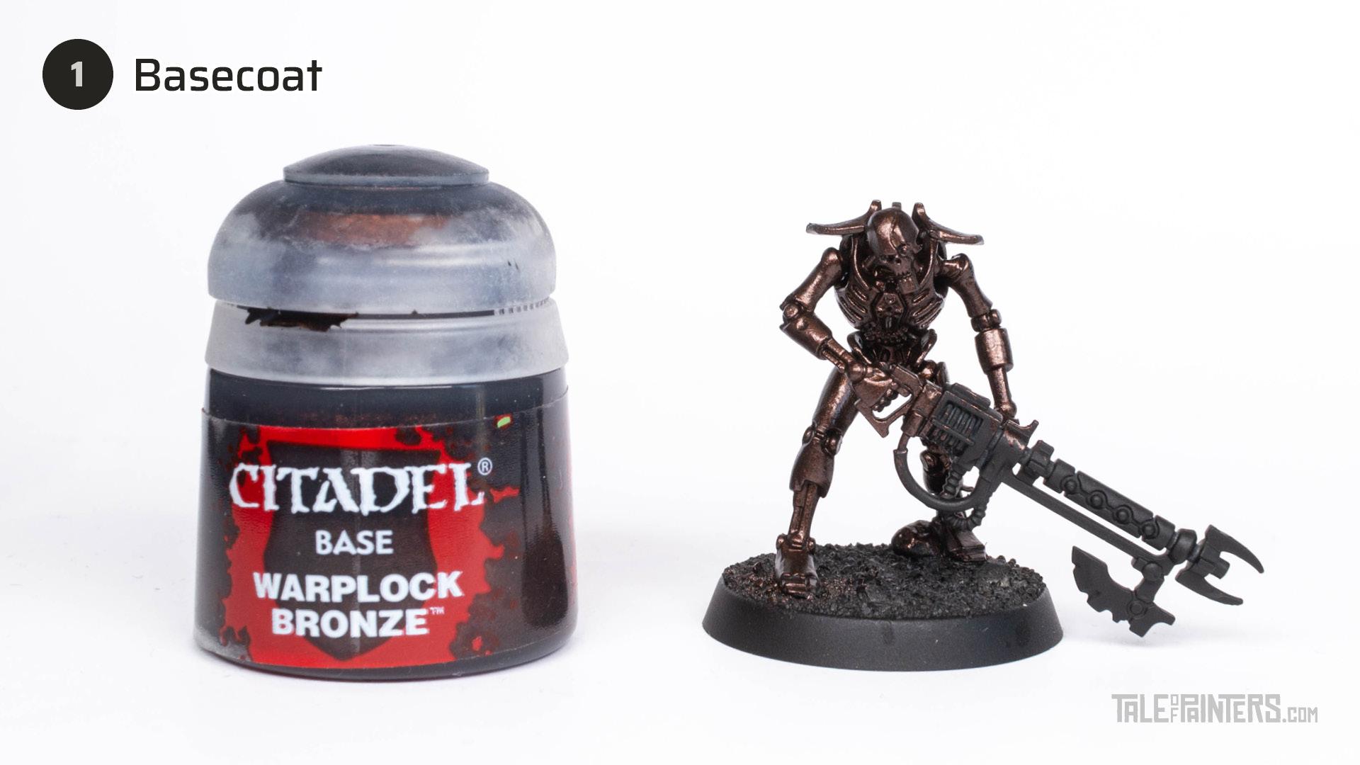 Tutorial: How to paint Necrons Szarekhan armour - step 1
