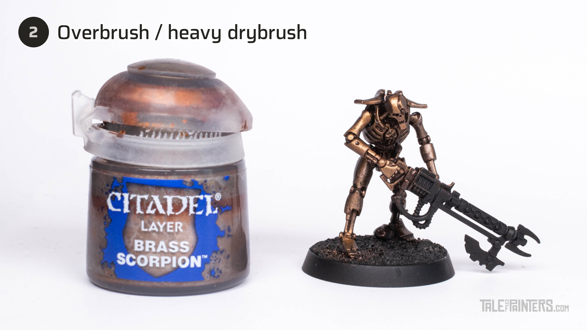Tutorial: How to paint Necrons Szarekhan armour - step 2