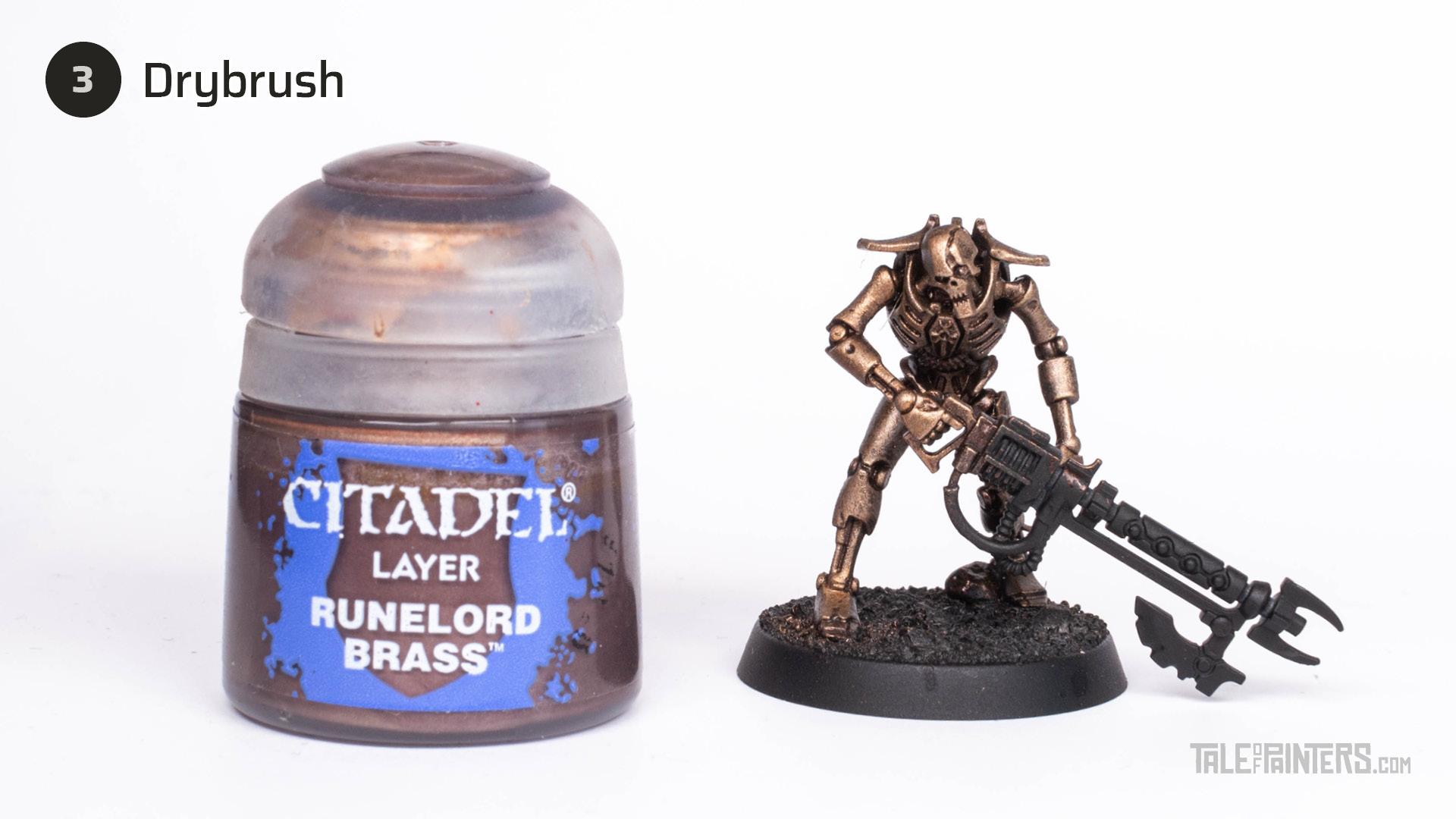 Tutorial: How to paint Necrons Szarekhan armour - step 3