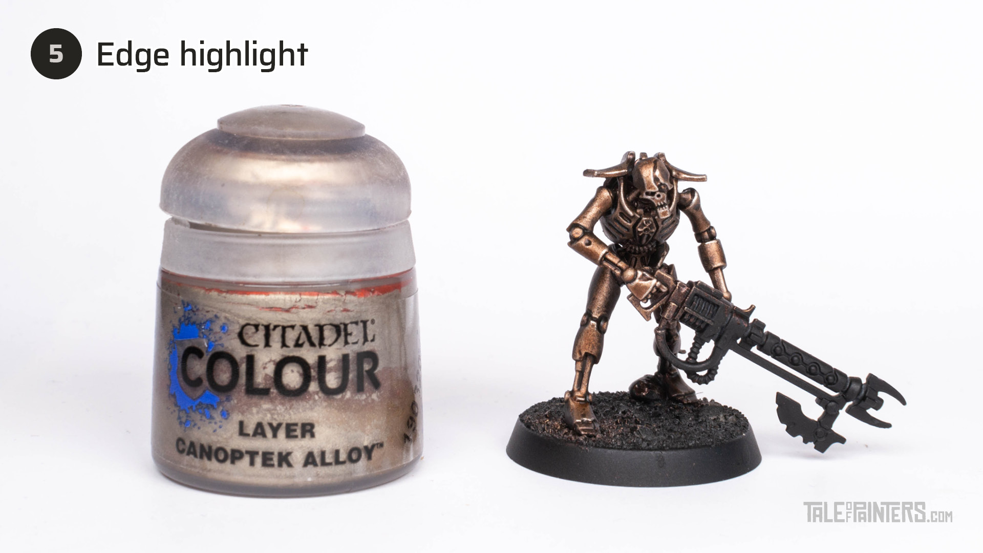 Tutorial: How to paint Necrons Szarekhan armour - step 5