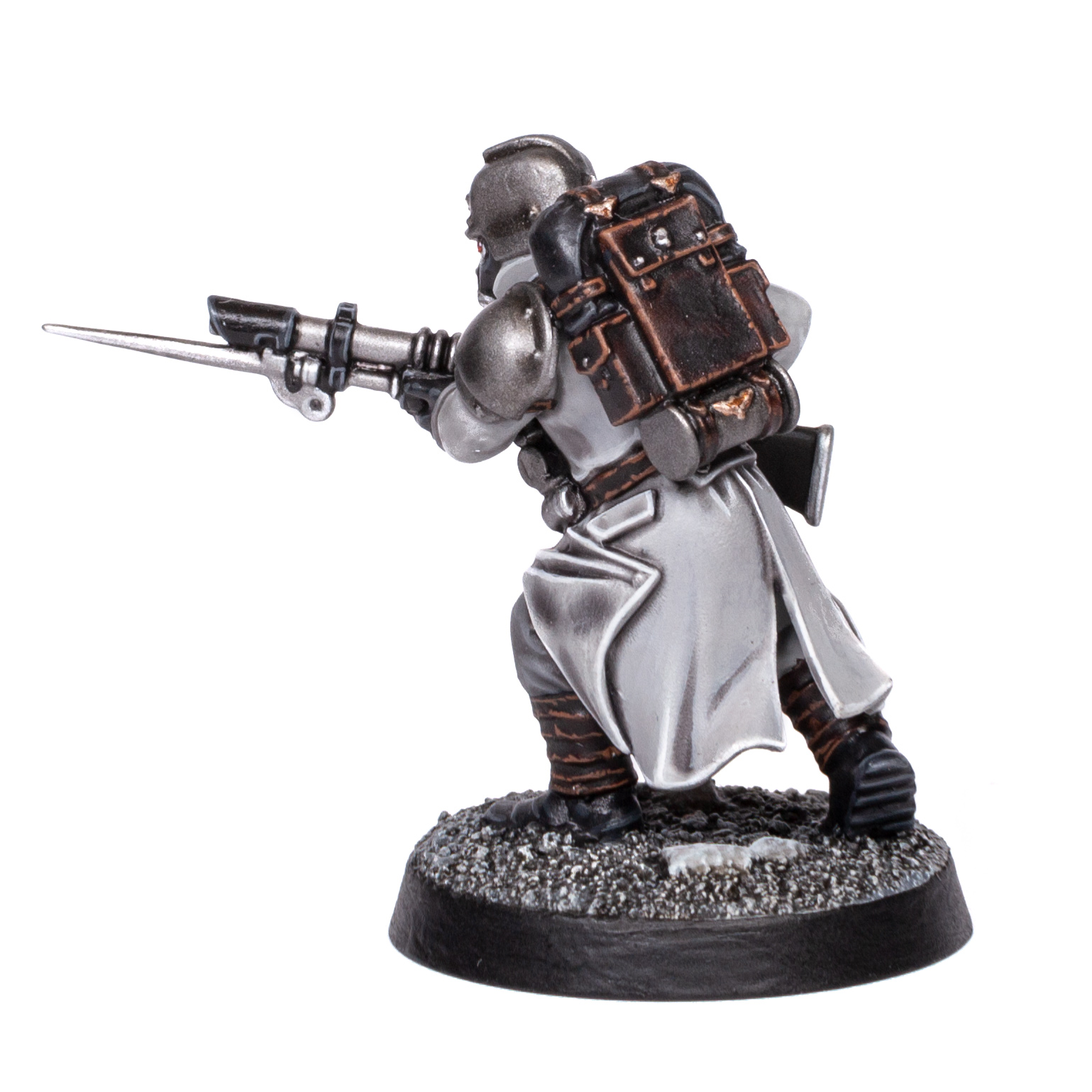 Back view of a Death Korps of Krieg Trooper painted by Stahly