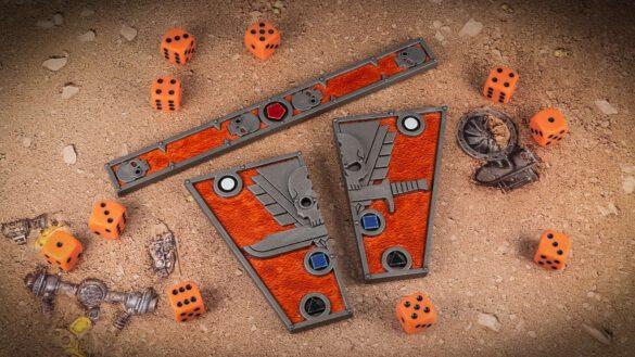 Scenic shot of the Kill Team: Octarius combat gauges and dice
